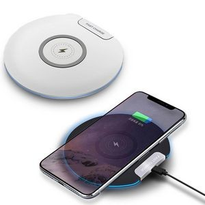 Round fast QI wireless charger for cell phone
