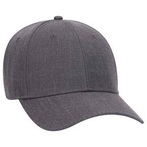OTTO Heather Wool Blend 6 Panel Low Profile Baseball Cap